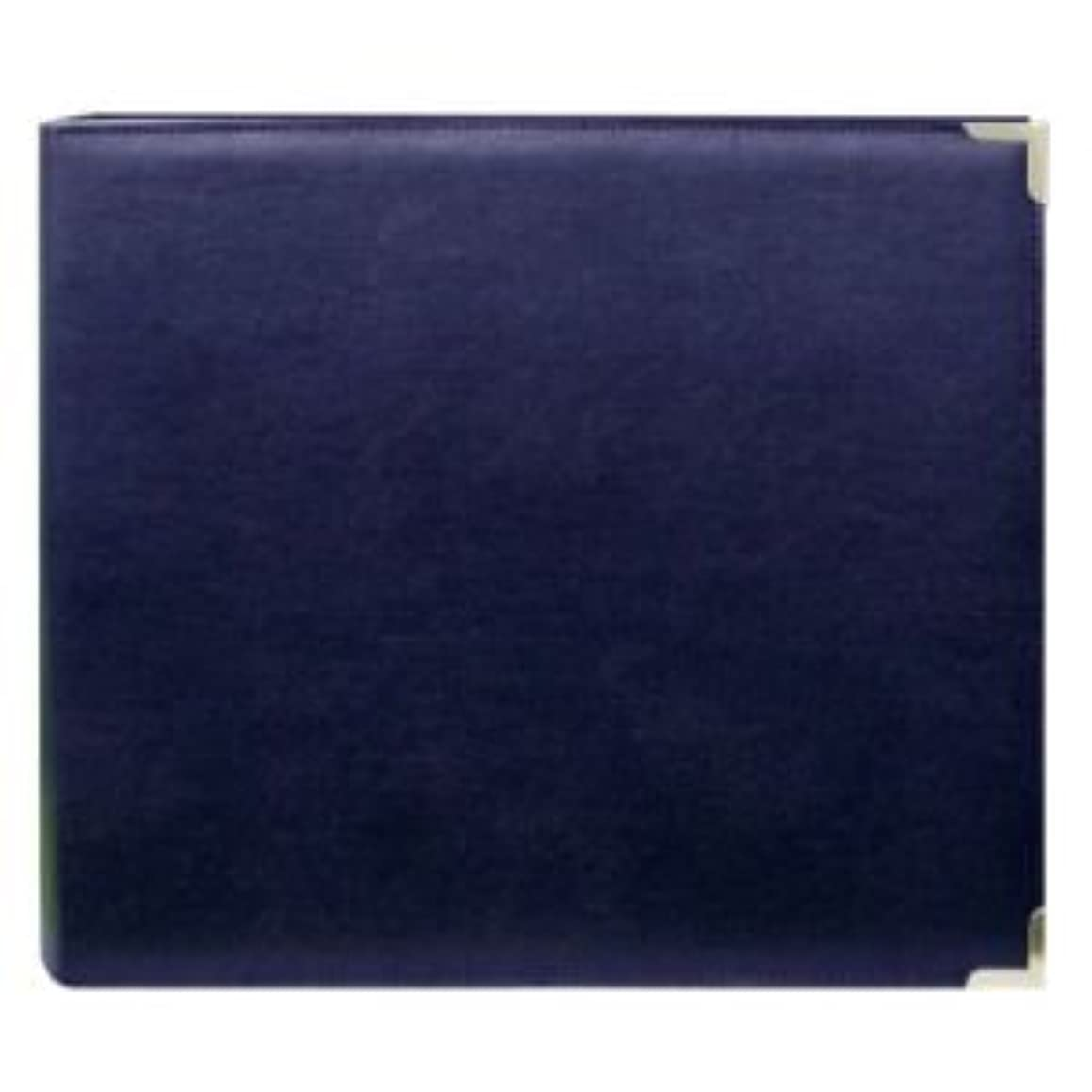 Pioneer 3-Ring Sewn Cover Album 12x12-Navy Blue Oxford