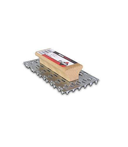 Rubi 65963 Rascador de mortero monocapa con mango de madera, Gris, 150 x 72 mm