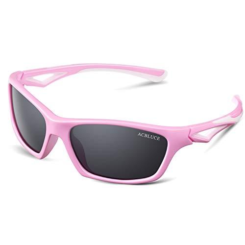 Polarized Sunglasses for Kids Boys Girls Child Teen Wayfarer Sport Glasses Strap