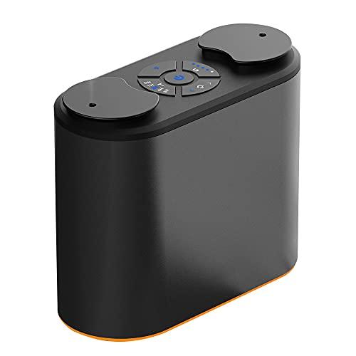 アロマディフューザー ネブライザー式 双噴霧 充電式 静音 ミスト量調整可 タイマー機能 水なし 車用 充電式 ネブライザー式 ヨガ室 ホテル (ブラック)