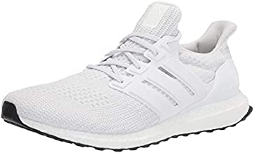 adidas Men's Ultraboost DNA Running Shoe, White/White/Black, 11