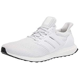 adidas Men's Ultraboost DNA Running Shoe, White/White/Black, 8