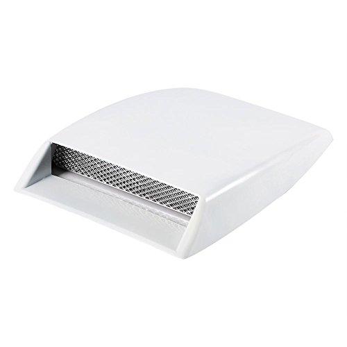 Capilla de la cubierta de la etiqueta engomada del respiradero del capo de ventilación del capo de la toma de aire del coche universal(blanco)