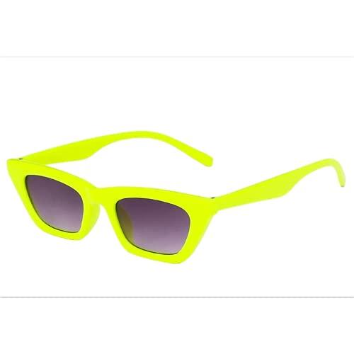 Mcottage Sombras de rectángulo Negro Gafas de Sol para Las Mujeres Pequeñas Gafas de Sol cuadradas Mujer Marca de Lujo UV400