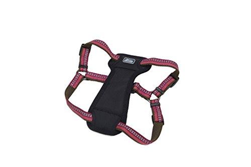 Coastal - K-9 Explorer - Reflective Adjustable Padded Dog Harness, Berry, 5/8' x 12'-18'