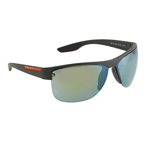Ray-Ban Herren 0PS 17US Sonnenbrille, Schwarz (Green Rubber), 68.0