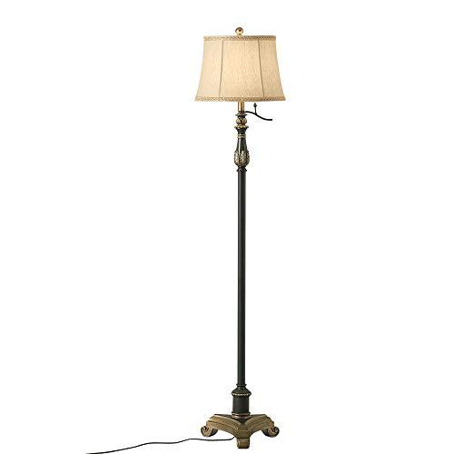 CHENJIA Sala de estar lámpara de noche dormitorio, Suelo rústico tradicional lámpara Beige Tela 164 cm