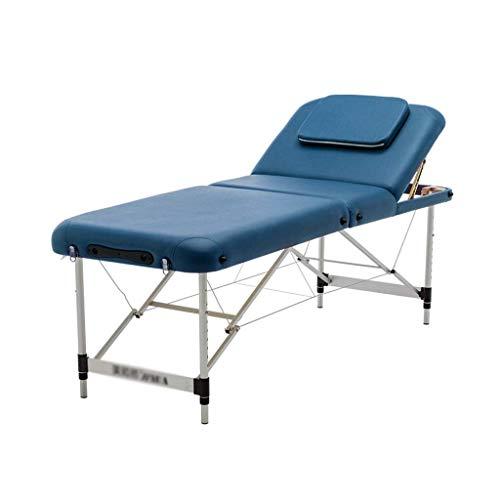 Silla de masaje, cama de masaje de aluminio ajustable, cama de salón de fisioterapia para tatuajes, adecuada para la mesa de masaje de acupuntura de terapia de fuego (Color: Estilo 1, Tamaño: 60cm /