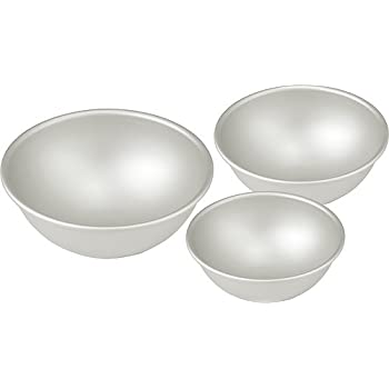 Hemisphere Ball Cake Pans - Set of 3 Different Sizes