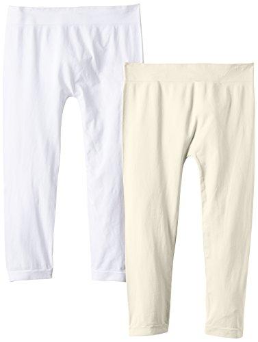 Luigi di Focenza Damen 1712 Legging, 100 DEN, Elfenbein (creme-weiß 135/099), One Size (2er Pack)