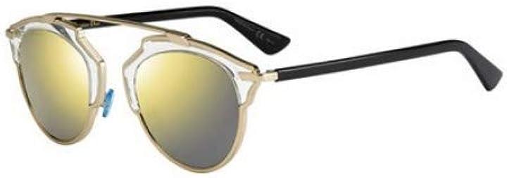 Occhiali da sole dior oro specchio lens 48 millimetri u5sk1 diorsoreals diorsoreal/s so real black gold grande