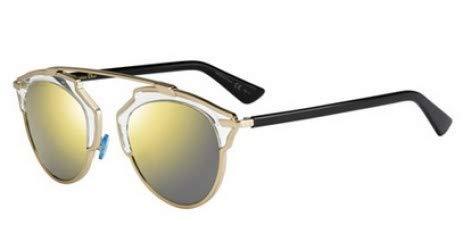Dior Christian DiorSoReal gafas de sol w / 48mm lente de espejo de oro U5SK1 DiorSoReals DiorSoReal/s So Real mujer oro Negro Grande