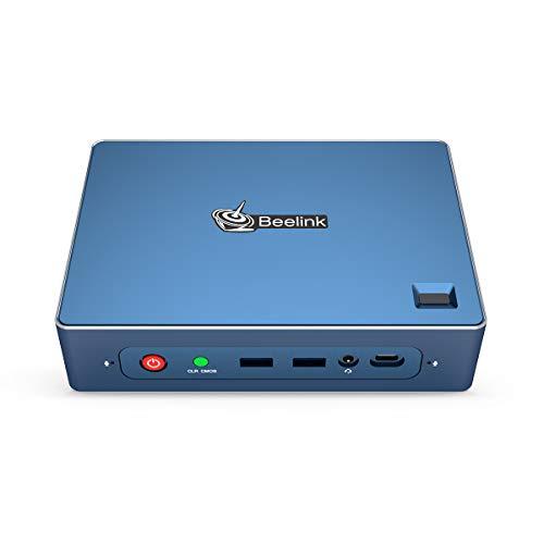 Beelink GT-R Mini Gaming Pc Window 10 Pro,AMD Ryzen 5 3550H 4C/8T 16GB DDR4 512GB SSD / 2GB Graphics Card,WiFi 6/BT 5.0/Dual Gigabit Ethernet/DP+HDMI+USB C Four Display Output/Fingerprint Unlock
