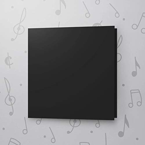 10s CARD 6x6 (BLACK) RECORDABLE GREETING CARD chip sound musical voice talking