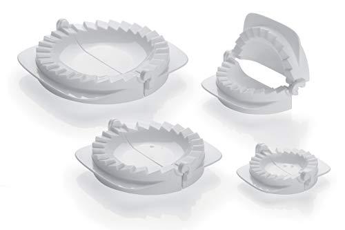 Tescoma Delicia 630880- Set per ravioli e panzerotti, 4 pezzi, Bianco