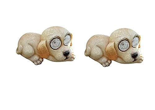 2x Solarleuchte Solar Hund Hündchen Tier Deko Garten 16437