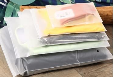HautStore Busta Organizer in Plastica Impermeabile, 30pcs 3 taglie Sacchetti Trasparenti Zip Borsa Viaggio Adatto per Vestiti per Bambini, Biancheria Intima, Scarpe, Beauty Box, Ecc