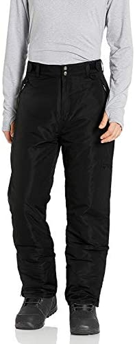 Arctic Quest Mens Water Resistant Insulated Ski Snow Pants with Pockets Black Large product image