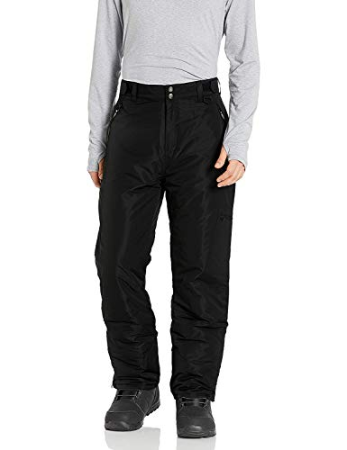 Arctic Quest Mens Water Resistant Insulated Ski & Snow Pants with Pockets, Black, XXL-