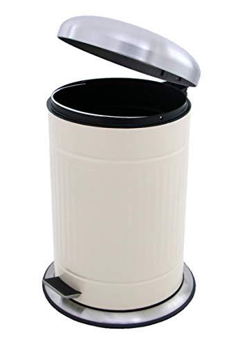 Made for us 20 L Retro Tret-Abfalleimer 50er-Jahre Mülleimer nostalgie Küchen-Mülleimer 20 Liter Abfall-Behälter für Gelber-Sack Kompost Rest-Müll