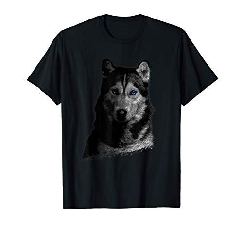 Retrato de husky siberiano Camiseta