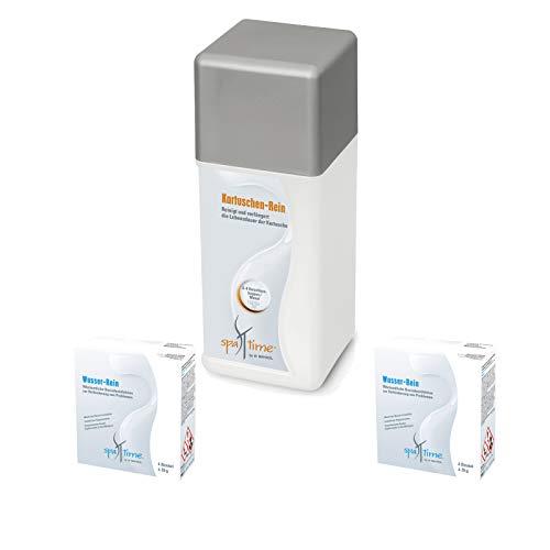Bayrol Set> 2X SpaTime Wasser Rein + 1x Kartuschen Rein Wasserpflege, Whirlpool Pflegefibel/Poolpflege/Desinfektion/Whirlpool/Spa