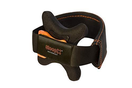 SleepX neckrest® - Premium Reisekissen, Kinnstütze: Besser als Nackenhörnchen- bequem, leicht, komfortabel, ideal zum Schlafen im Flugzeug, Auto, Bahn und Bus, (Gr. L (Kragenweite: 42 – 58))