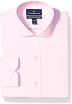 Buttoned Down Men's Tailored Fit Cutaway-Collar Solid Pinpoint Dress Shirt