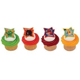 Angry Birds The Movie Why So Angry? Cupcake Rings 12 Pack