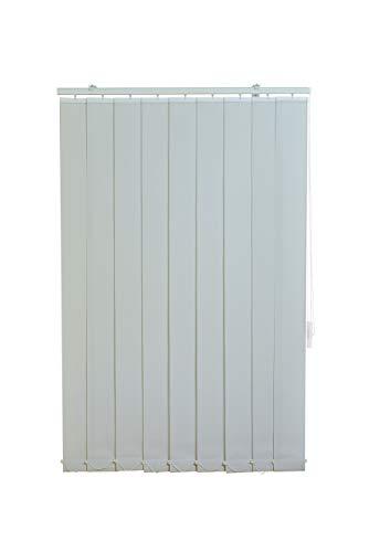 Sunlines HW5101 Vertikaler Lamellenvorhang Fixmaß, Stoff, grau, 150 x 250 cm