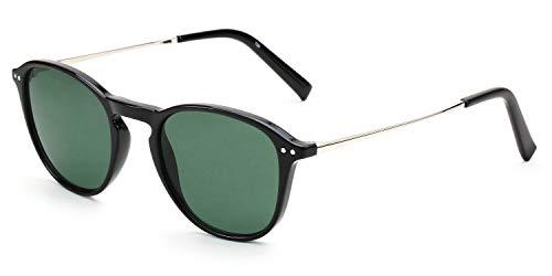 Wayfarer-Sonnenbrille für Damen & Herren, leichter Rahmen aus Kunststoff/Metall, inkl. Vorteilscode für Gläser in Sehstärke (Gleitsicht/Einstärke) - Modell 19208P-402