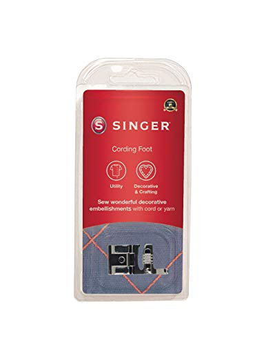 SINGER | Snap-On Cording Presser Foot for Low Shank Sewing Machines, Decorative Stitching & Cording,...