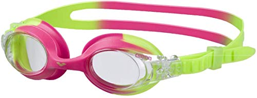 arena Unisex - Kinder Schwimmbrille X-Lite, green-pink/clear, One size, 92377
