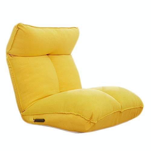 Sedia per Divano Pigro, Poltrona Sacco Pouf Puff Lazy Sofa Tatami Cuscino Regolabile Singolo Beanbag Ideale Come Sedia da Gaming e Sedia da Giardino,Giallo,5 Gears