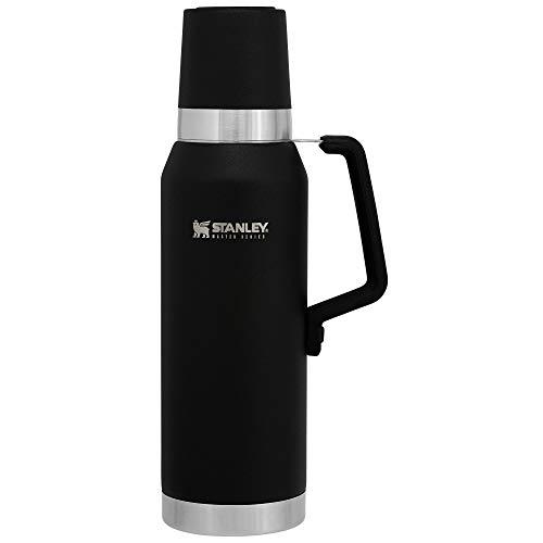 Stanley Unbreakable Thermal Bottle 0.75L / 25OZ Foundry Black – Thermosfles houdt 27 uur warm of koud | Levenslange garantie | Roestvrijstalen Thermoskan | Lekvrij | BPA-vrij | Vaatwasserbestendig
