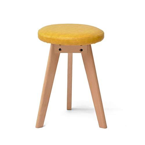 PLL kruk massief houten kruk creatief ronde kruk make-up kruk Home eettafel kruk kleine bank geel