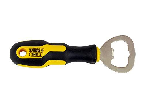Narex 889302 Abridor de botellas promocional 5-1/4 pulgadas de largo, mango termoplástico de agarre suave