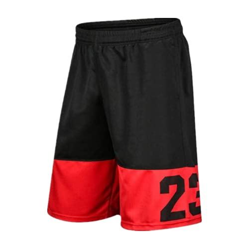 N\P Sommer Männer und Frauen Lose Basketball Shorts Workout Mesh Atmungsaktiv, grau, XXL