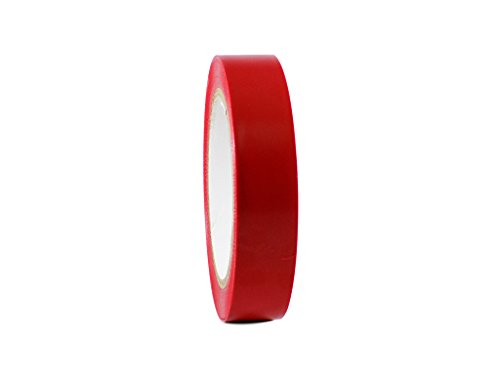 T.R.U. CVT-536 Red Vinyl Pinstriping Dance Floor Tape: 1 in. Wide x 36 yds. Several Colors