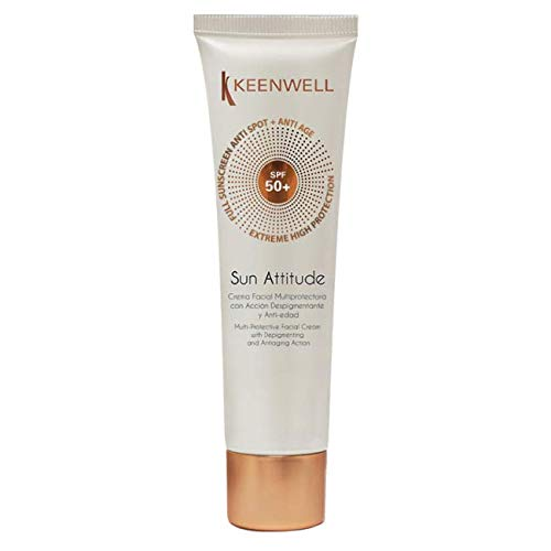 Crema Facial Multiprotectora con Acción Despigmentante y Anti-edad SPF50 de Keenwell