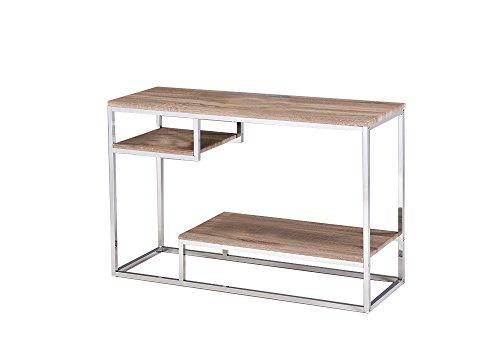 Console, meubilair, verchroomd en hout, eiken decoratie, modern design