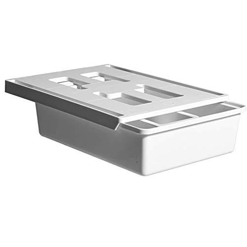 Noblik Organizador para debajo del escritorio, cajón de almacenamiento para lápices con compartimento adicional