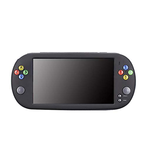 Haodene Consola de Juegos portátil - PSP X16 HD 7 Pulgadas Consola de Juegos portátil GBA de 8GB Apoyo CPS/GBA/SFC/MD/FC/GB/GBC para niños Regalo Infantil