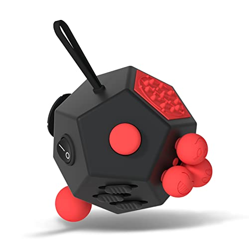 Fidget Dodecagon –12 Side Fidget Toy Cube Relieves Stress and Anxiety Anti Depression Cube for...