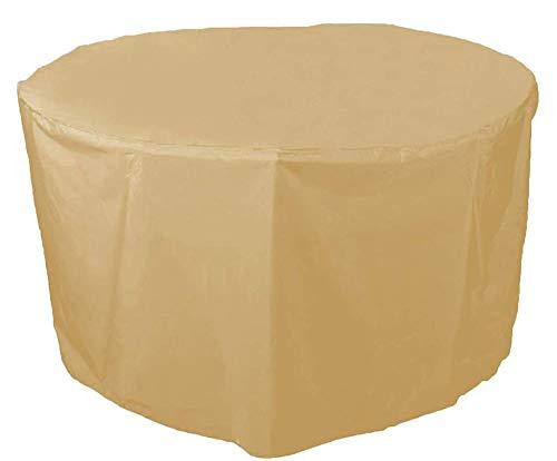 BBMMCLL Funda Protectoras Muebles Jardin, 210D Paño Oxford Funda Protectora para Mesa de Comedor Redonda Impermeable a Prueba de Viento Cubierta de Mesa de jardín-160x71cm