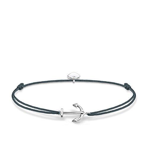 Thomas Sabo Damen-Armband Little Secrets Anker 925 Sterling Silber Blau LS070-173-5-L20v
