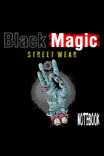 Black Magic Street Wear Blue Zombie Hand Holding Hexagram Coin Journal Notebook: 6x9 book size of 120 line pages journal notebook for writing purpose ... down important notes to be written on it