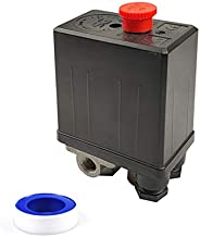 JXZSJ 4-Way Air compressor pressure switch Central Pneumatic Air Compressor Pressure Switch Control Valve With,Compressor switch90-120 PSI 220V- 240V Air compressor regulating valve