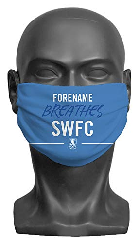 Personalised Sheffield Wednesday FC Breathes Adult Face Mask - Medium