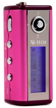 X4-Tech X-Styler Tragbarer MP3-Player 2 GB pink